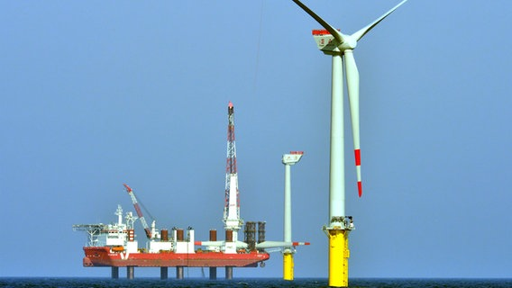 Trianel Windpark Borkum © picture alliance / dpa