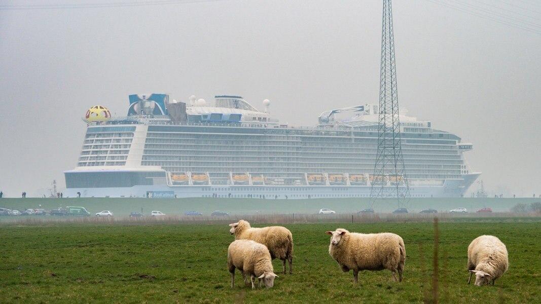 """Geschafft: """"Spectrum of the Seas"""" ist in Eemshaven"""