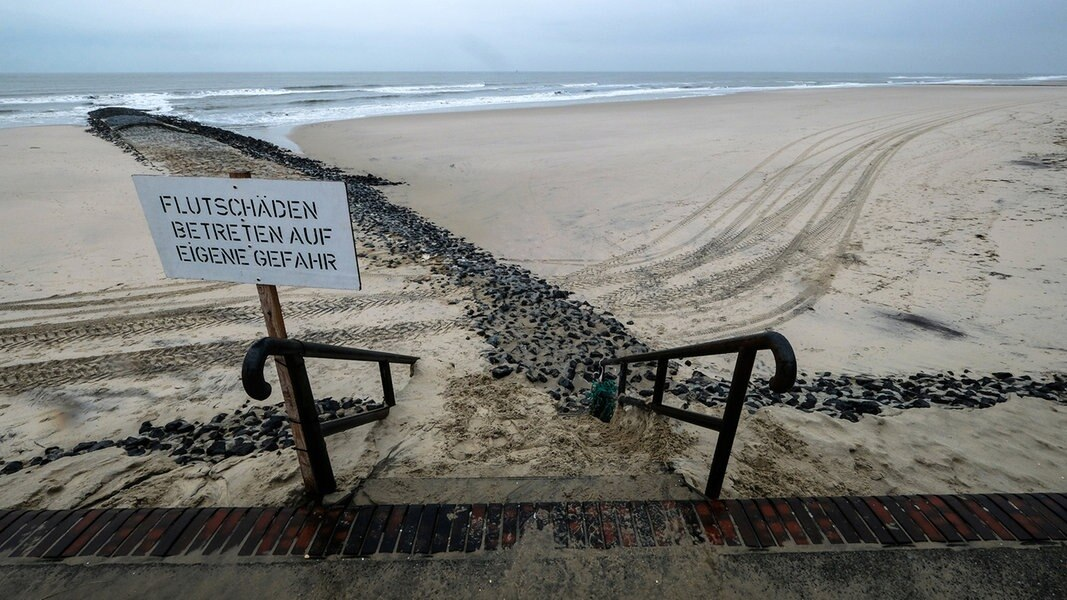 Sturmschäden: Inselbürgermeister treffen Lies