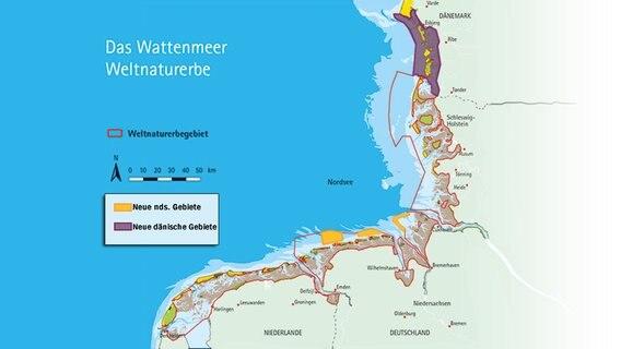 wattenmeer dänemark karte Komplettes Wattenmeer ist jetzt Weltnaturerbe | NDR.de