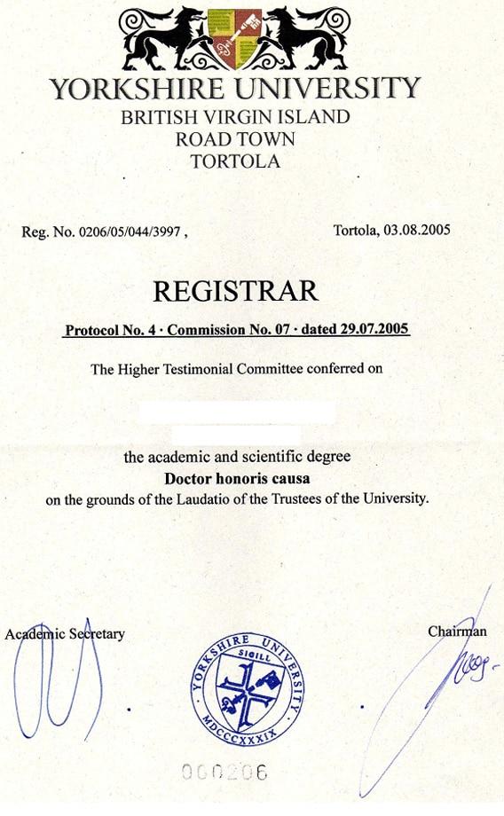 Ehren Doktor