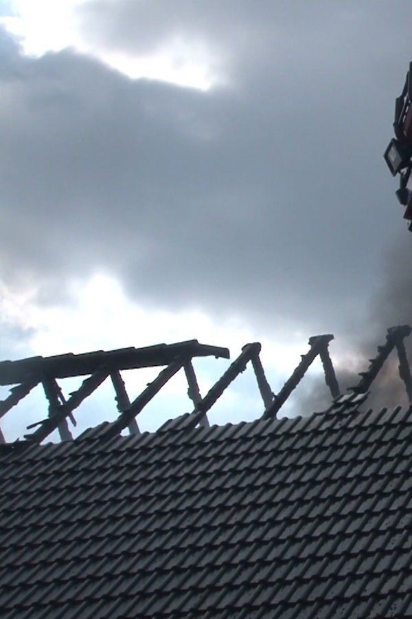 Damme: Feuer zerstört Fachwerkhaus