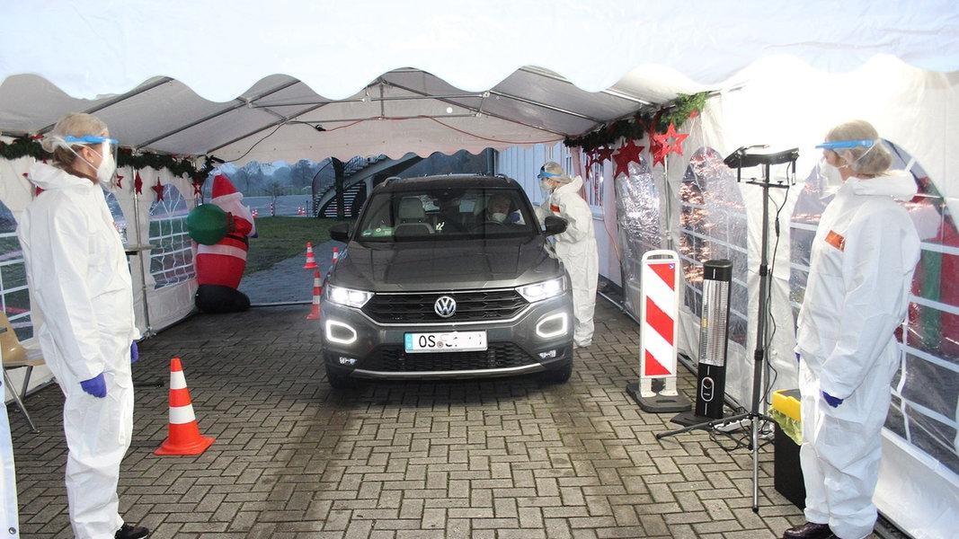 Drive-In: Corona-Schnelltest-Zentrum in Osnabrück geöffnet