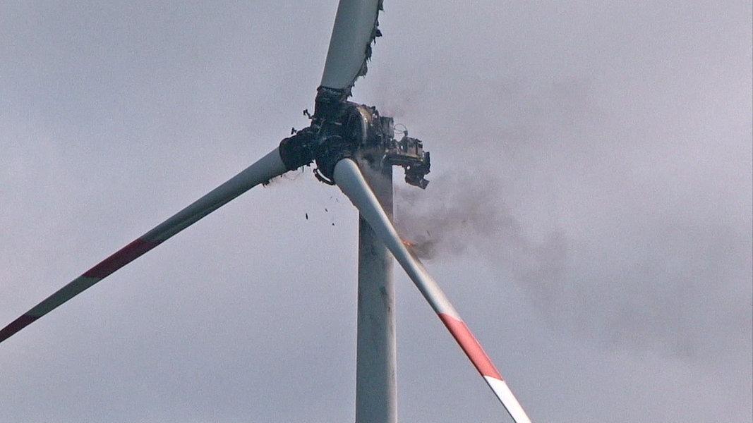 Windkraftanlage Abgebrannt