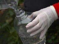 Wasserprobe in einer durchsichtigen Flasche. © NDR