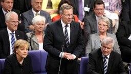 Christian Wullf nimmt die Wahl zum Bundespräsidenten an © dpa