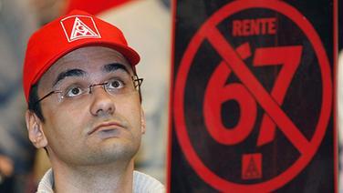 Protest gegen Rente mit 67 (2007) © dpa - Report Foto: Marijan Murat