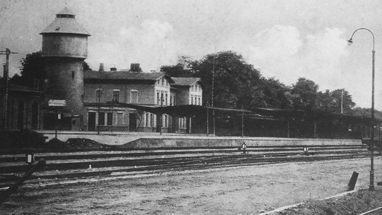 Der Bahnhof in Ahrensburg um 1900. © Stadtarchiv Ahrensburg
