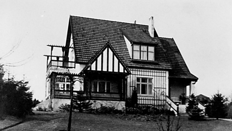 Das Haus in der Hagener Allee 80 in Ahrensburg um 1915. © Stadtarchiv Ahrensburg