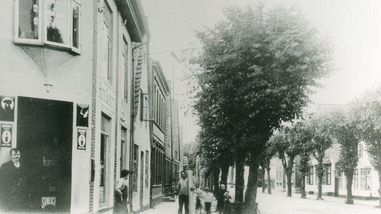 Historisches Foto der Langestraße in Arnis. © Stadtarchiv Kappeln