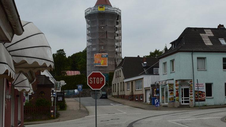 Der Wasserturm Bad Segeberg. © NDR Foto: Anne Passow