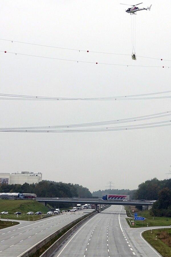 A7: Sperrungen wegen Hubschrauber-Arbeiten
