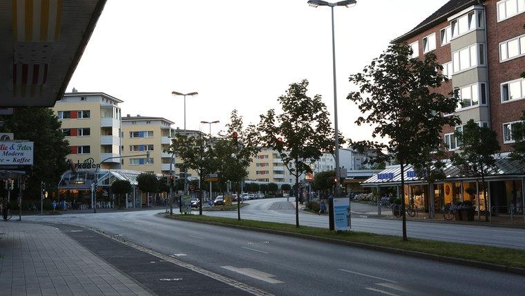 Die Arkaden am Dreiecksplatz. © NDR Foto: Sebastian Parzanny