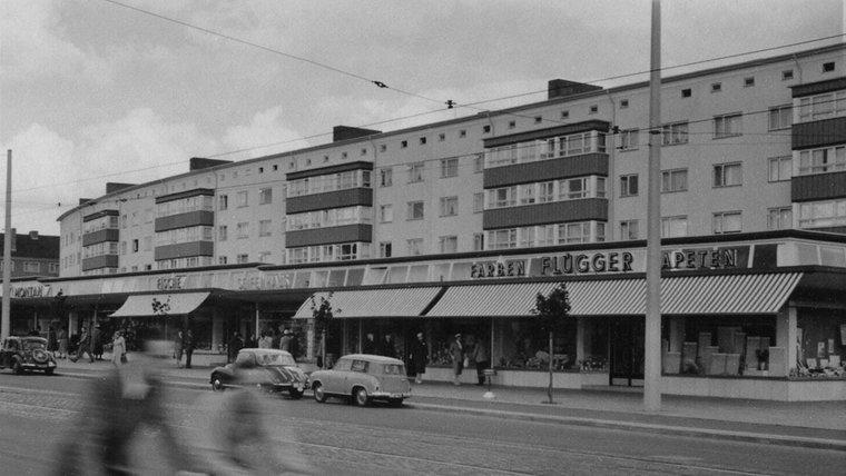 Die Arkaden am Dreiecksplatz. © NDR