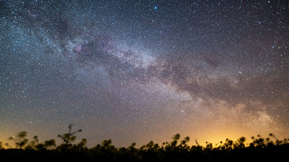 Der Sternenhimmel leuchtet über der Ostsee. © dpa-Bildfunk Foto: Daniel Reinhardt