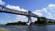 Die Schwebefähre an der rendsburger Hochbrücke befindet sich im der Sanierungsphase © NDR Foto: Pavel Stoyan