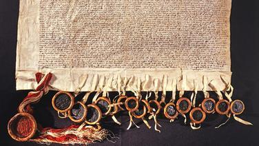 Abbildung des Vertrags von Ripen © Landesarchiv Schleswig-Holstein - Signatur (Urk.-Abt. 394 Nr. 8)