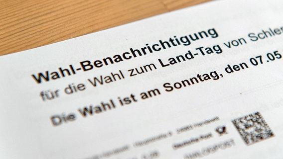 Wahlbenachrichtigung Schleswig Holstein