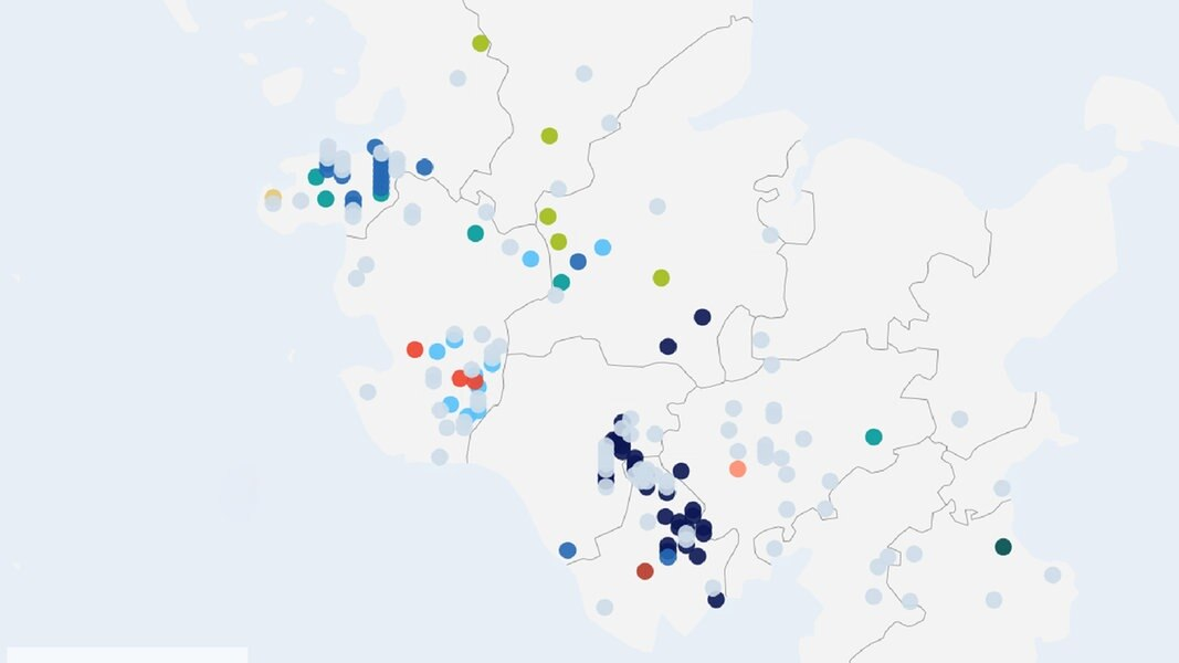 Schleswig Holstein Karte.Interaktive Karte Wölfe In Schleswig Holstein Ndr De