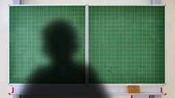 Bildmontage: Der Schatten eines Kindes vor einer Schultafel. © Fotolia.com Foto: Ulrich Müller