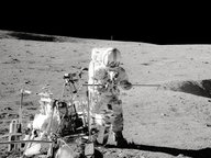 Der Astronaut Alan Shepard auf dem Mond im Jahr 1971 © picture alliance / ZUMA Press Fotograf: NASA