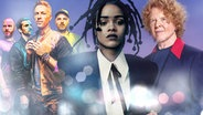 Coldplay, Rihanna und Simply Red (Montage) © coldplay.com, universal music, warner music/Dean Chalkley