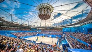 Blick in das Hamburger Stadion bei der Beachvolleyball World Tour 2018 © Beach Majors Angerer