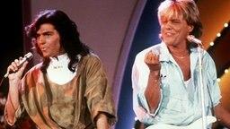 """Das Pop-Duo """"Modern Talking"""" war Mitte der 80er-Jahre ein Phänomen. © dpa Foto: Eva von Maydell"""
