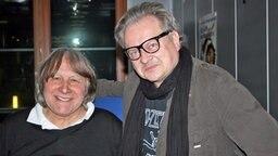 Peter Urban und Heinz Rudolf Kunze im NDR 2 Studio Foto: B. Weigel