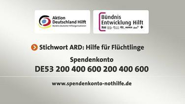 """Spendenkontodaten von der Aktion """"Hilfe für Flüchtlinge""""."""
