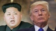Eine Montage von Kim Jong Un und Donald Trump © imago / ZUMA Press; imago / Kyodo News Fotograf: ZUMA Press / Kyodo News