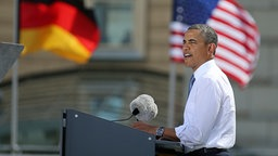 Barack Obama © dpa bildfunk Fotograf: Hannibal Hanschke