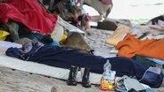 Obdachlose schlagen bei Temperaturen um den Gefrierpunkt ein Lager auf. © picture alliance/dpa Foto: Bodo Marks