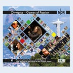 "CD-Cover: Wolf Kerschek feat. Daniele Mercura & NDR Bigband ""Olympics - Games of Passion"" © Phina Music GmbH"