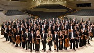 Das NDR Elbphilharmonie Orchester auf der Bühne des Großen Saals in der Elbphilharmonie © Michael Zapf