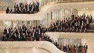 Das NDR Elbphilharmonie Orchester in den Zuschauerrängen der Elbphilharmonie © Michael Zapf