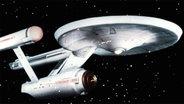 """Raumschiff """"USS Enterprise"""" aus der Fernsehserie """"Star Trek TV"""" (1966-69) © Picture Alliance"""