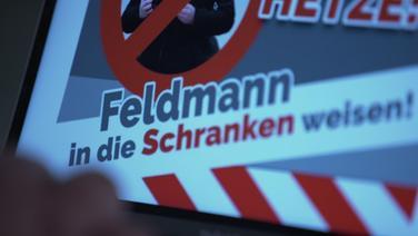"""""""Feldmann in die Schranken weisen."""" Unter diesem Motto ruft die NPD zu einer Demo gegen den auf Rechtsextremismus spezialisierten Journalisten Julian Feldmann vom NDR auf - und zeigt sein Bild. Eine neue Dimension der Einschüchterungsversuche. © NDR Foto: Screenshot"""
