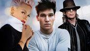 Pink, Wincent Weiss und Udo Lindenberg (Montage) © Sony Music, Universal Music Fotograf: Andrew Macpherson, Tine Acke