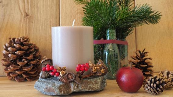 Türkranz Adventskranz Weihnachts Deko Kranz Tischkranz Zapfen Beeren Stern