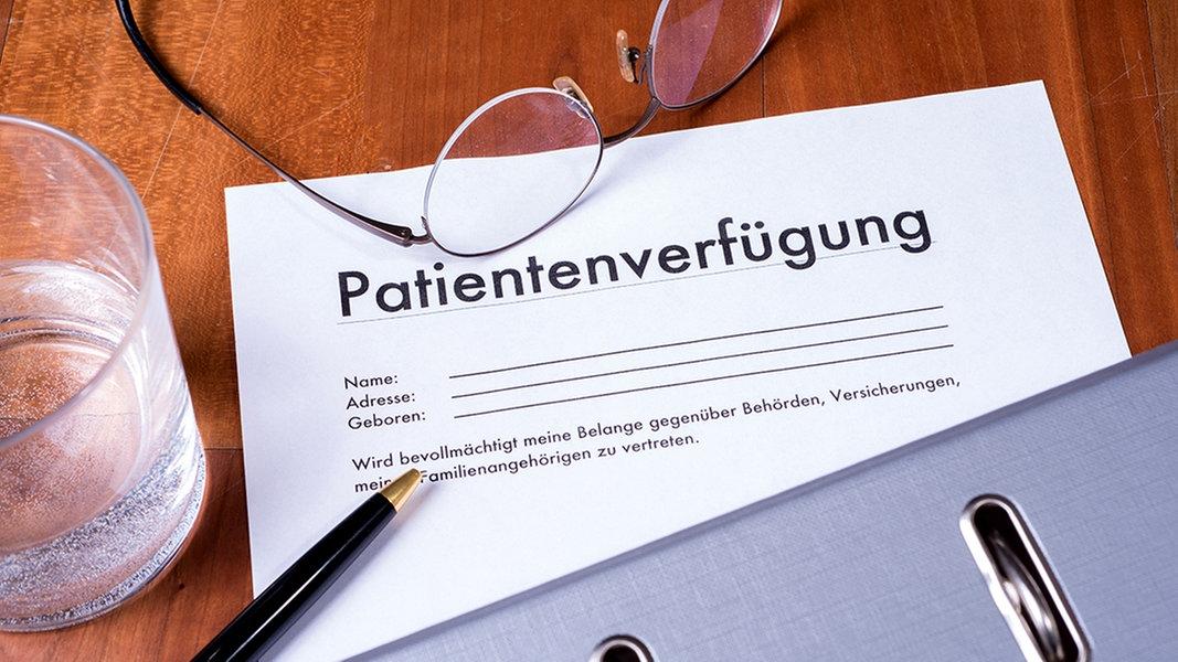 tipps fr eine wirksame patientenverfgung ndrde ratgeber gesundheit - Muster Patientenverfugung