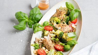 Brokkoli-Linsen-Salat mit Makrele