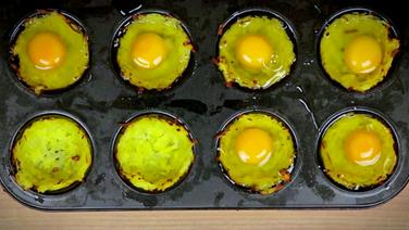 Rezept gebackene eier im kartoffelnest - Eier weich kochen minuten ...