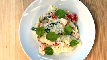 Lachs-Spinat-Pasta © NDR