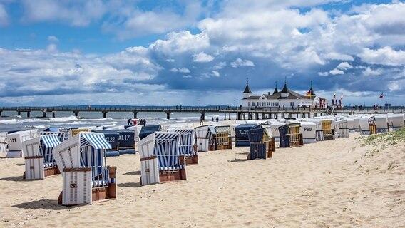The pier on the beach on Usedom © colourbox