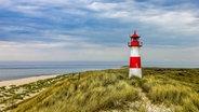 Blick auf den Leuchtturm List Ost auf Sylt, die Dünen und das Meer. © fotolia.com Foto: rpeters86