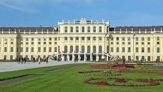 Blick auf das Schloss Schönbrunn in Wien. © NDR Foto: Kathrin Weber