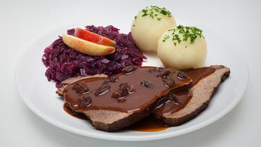 rezept rheinischer sauerbraten mit rotkohl und kl en ratgeber kochen. Black Bedroom Furniture Sets. Home Design Ideas