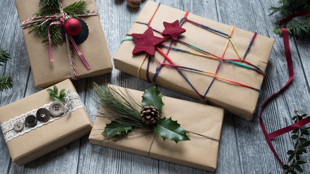 weihnachten gutscheine und geschenke verpacken ndrde