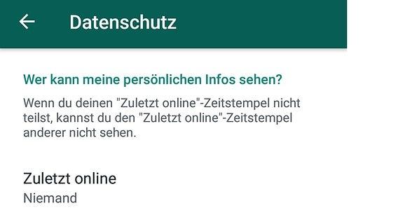 Whatsapp kann zuletzt manipulieren man online In WhatsApp